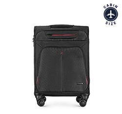 Small suitcase, black-red, 56-3S-631-13, Photo 1