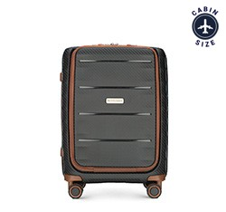 Small suitcase, black-brown, 56-3T-760-10, Photo 1