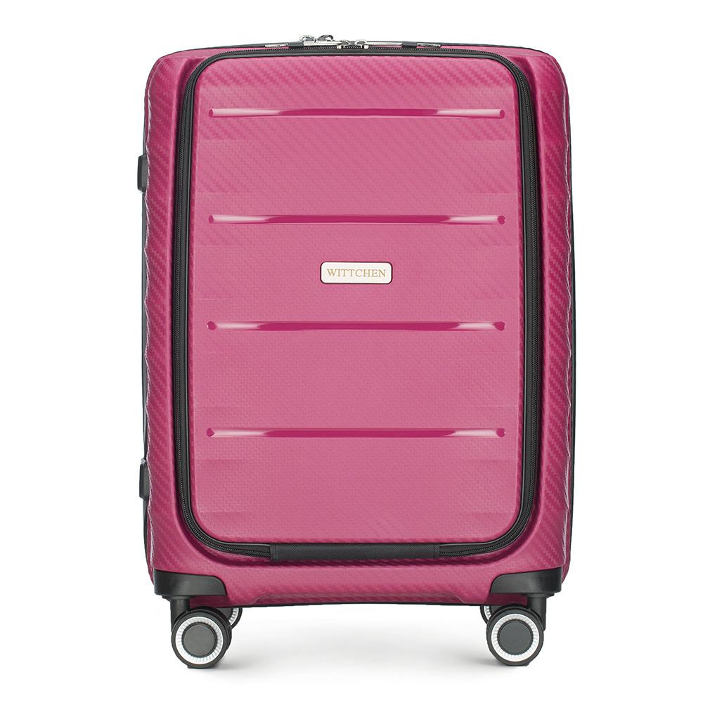 8142f69f764ca Mała walizka podróżna na kółkach ( 55x39x23 cm ), z polipropylenu   WITTCHEN    56-3T-760