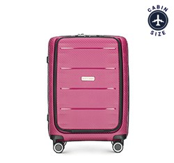 Small suitcase, dark pink, 56-3T-760-24, Photo 1
