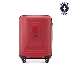 Walizka kabinowa z polipropylenu w geometryczny deseń, czerwony, 56-3T-781-30, Zdjęcie 1