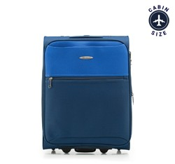 Walizka kabinowa, granatowo - niebieski, V25-3S-241-99, Zdjęcie 1