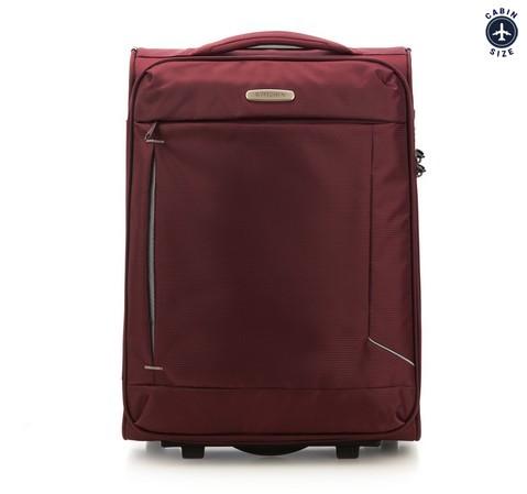 Kabinowa miękka walizka prosta, bordowy, 56-3S-471-35, Zdjęcie 1