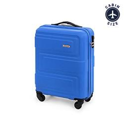 Walizka kabinowa z ABS-u tłoczona, niebieski, 56-3A-631-95, Zdjęcie 1