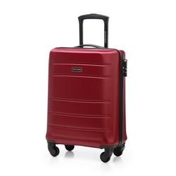 Walizka kabinowa z ABS-u żłobiona, czerwony, 56-3A-651-35, Zdjęcie 1