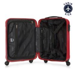 Walizka kabinowa z polikarbonu prosta, czerwony, 56-3P-971-31, Zdjęcie 1