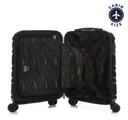 Walizka kabinowa z polikarbonu tłoczona, czarny, 56-3P-981-11, Zdjęcie 1