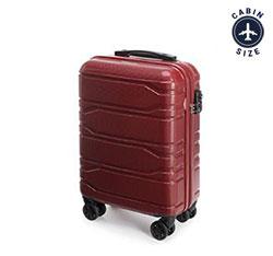 Walizka kabinowa z polikarbonu tłoczona, czerwony, 56-3P-981-31, Zdjęcie 1