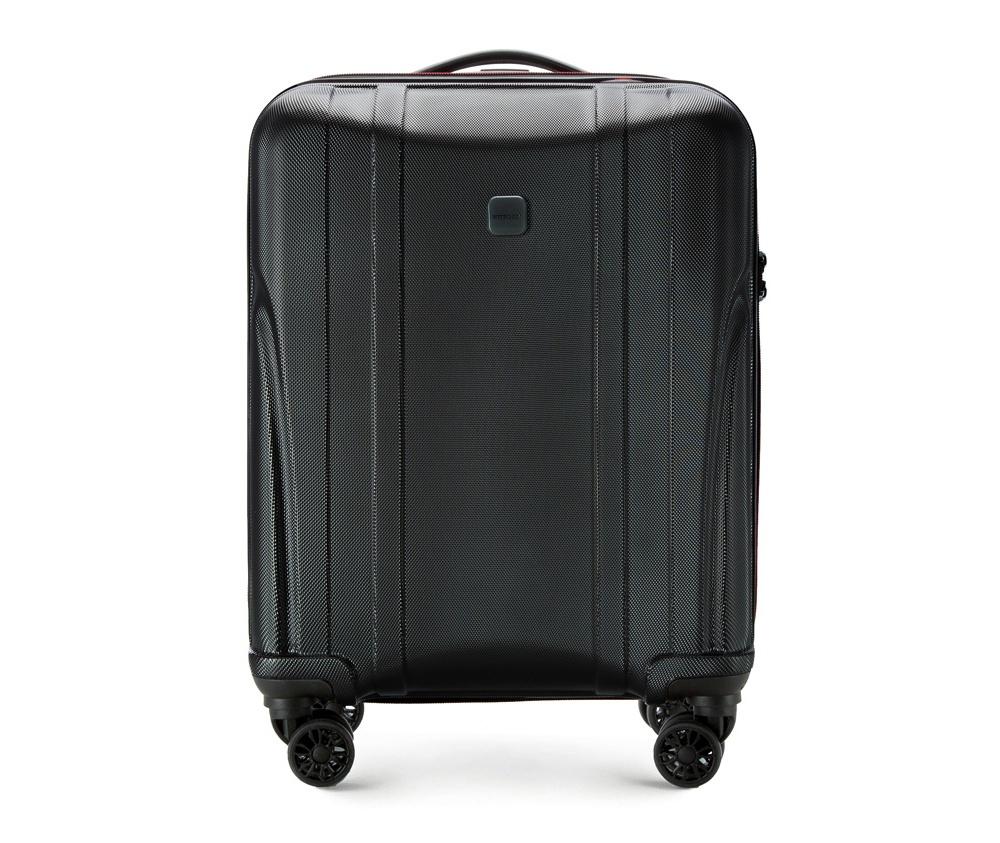Чемодан на колёсиках 19\\Маленький чемодан из коллекции Power PC, сделан из ударопрочного поликарбоната. Чемодан имеет 4 двойных колесика, выдвижную алюминиевую ручку и  резиновую ручку сверху. Современный и оригинальный дизайн чемодана,  подчеркивает красная нить, вплетенная в молнию. Чемодан имеет двойную  молнию, функцию \AntiTheft\, благодаря которой чемодан устойчив к  нежелательному открытию острым предметом, кодовый замок с функцией TSA.&#13;<br>Внутри:&#13;<br>&#13;<br>    два отделения для одежды, один отдел фиксируется ремнями на застежку и второй закрывается на молнию;&#13;<br>    2 сетчатых кармана на молнии.<br><br>секс: унисекс<br>Цвет: черный<br>материал:: Поликарбонат<br>высота (см):: 55<br>ширина (см):: 40<br>глубина (см):: 20<br>размер:: ручная кладь<br>вес (кг):: 2.2<br>объем (л):: 33