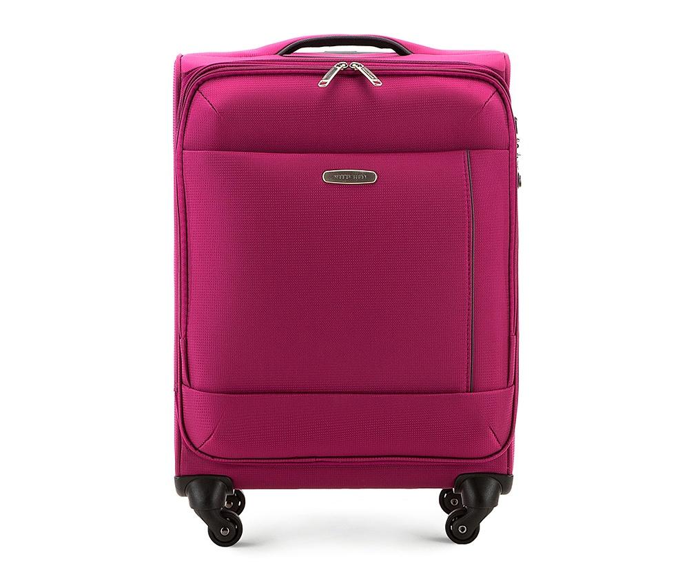 Чемодан текстильный 20\\Малый чемодан из коллекции Travel Soft Super Light. Четыре прочных колеса позволяют легко перемещать чемодан. Имеет двухступенчатую телескопическую ручку с фиксатором, и дополнительную верхнюю ручку, кодовый замок с системой TSA для надежной защиты вещей.     &#13;<br>Особенности модели:   основное отделение с эластичными ремешками  на молнии; карман-сетка на молнии.    Снаружи:   передний карман на молнии; отсек для устройств размером 28 см х 30 см; место для записи данных владельца.<br><br>секс: унисекс<br>Цвет: розовый<br>материал:: Полиэстер<br>высота (см):: 55<br>ширина (см):: 37<br>глубина (см):: 21<br>вес (кг):: 2.2<br>объем (л):: 30