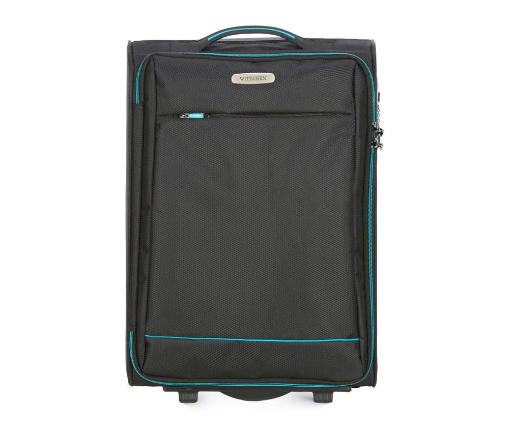 Чемодан на колесиках 20 дюймовМаленький чемодан из коллекции Bon Voyage сделана из полиэстра. Оснащен двумя колесикамми и подножкой, которая поддерживсает стабильность чемодана. и дополнтильная прорезиненная ручка делают предвежение багажа более комфортным. Внутри и снаружи чемодана яркие  вставки. Дополнительно замоком TSA,который очень удобен  в случае проверки багажа таможенной службой. , который гарантирует безопасное открытие чемоданов и его повторное закрытие без повреждения замка сотрудниками таможни. Чемодан соответствует требованиям ручной клади.  Особенности модели:  основное отделение на молнии с регулируемыми ремнями;  карман из сетки на молнии.    Снаружи:    с лицевой стороны карман на молнии.<br><br>секс: унисекс<br>Цвет: черный<br>материал:: Полиэстер<br>подкладка:: полиэстер<br>высота (см):: 54<br>ширина (см):: 36<br>глубина (см):: 20<br>размер:: маленький<br>объем (л):: 33<br>вес (кг):: 2,1