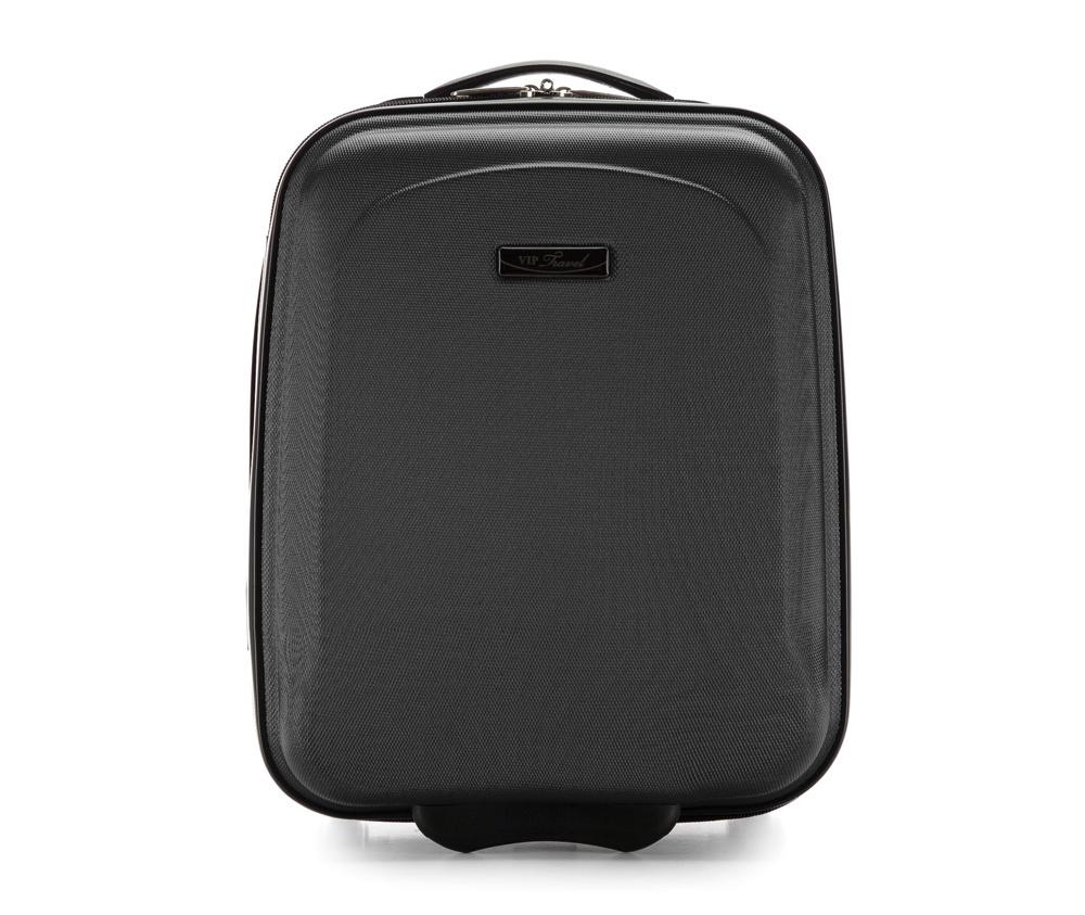 Чемодан  на колесиках  15\\Маленький чемодан из коллекции VIP Ride 3, сделан из ударопрочного поликарбоната. Чемодан имеет 4 двойных колесика, двухступенчатую выдвижную алюминиевую ручку и две резиновые ручки: сверху и сбоку. Современный и оригинальный дизайн чемодана подчеркивает красная нить вплетенная в молнию. Чемодан имеет двойную молнию, функцию  \AntiTheft\, благодаря которой чемодан устойчив к нежелательному открытию острым предметом, кодовый замок с функцией TSA. Внутри: два отделения для одежды, один отдел фиксируется ремнями на застежку и второй закрывается на молнию; 2 сетчатых кармана на молнии.<br><br>секс: унисекс<br>Цвет: черный<br>материал:: ABS пластик<br>высота (см):: 42<br>ширина (см):: 32<br>глубина (см):: 18<br>размер:: маленький<br>объем (л):: 20<br>вес (кг):: 1.8