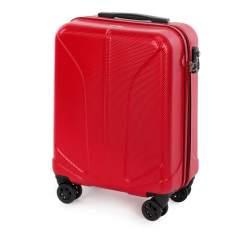 Walizka kabinowa z polikarbonu żłobiona, czerwony, 56-3P-811-30, Zdjęcie 1