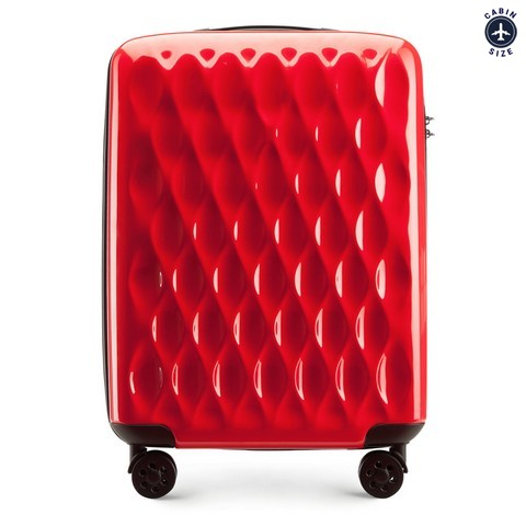 Walizka kabinowa, czerwony, 56-3H-551-30, Zdjęcie 1