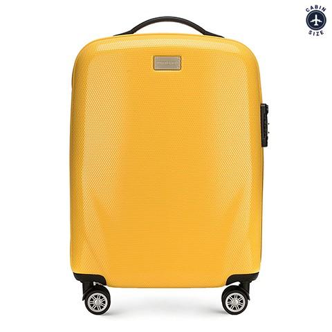 3957d05438fcf Mała walizka na kółkach z policarbonu | 56x37x20 cm | WITTCHEN 56-3P-571