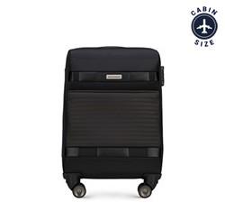 Walizka kabinowa miękka klasyczna, czarny, 56-3S-551-10, Zdjęcie 1