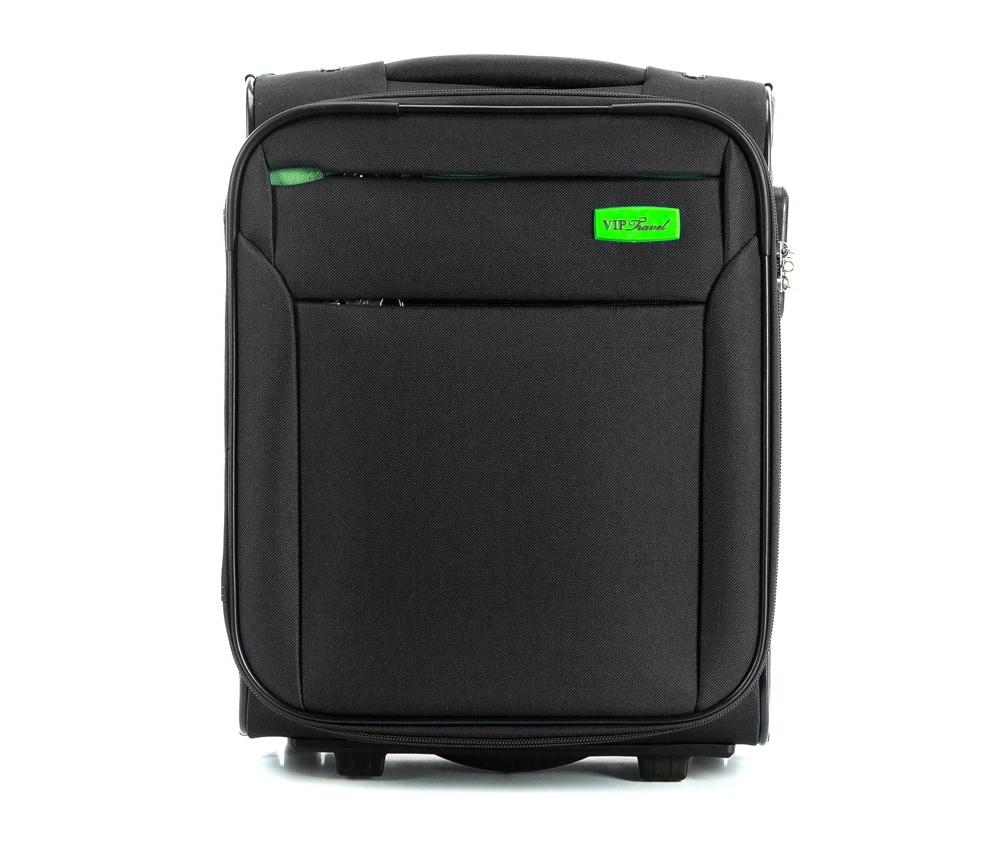 Чемодан на колесиках 15\\Маленький чемодан из коллекции RIM Line выполнен из полиэстера. Оснащен двумя колесиками, подножкой, которая поддерживает стабильность чемодана, телескопической ручкой для комфортного перемещения  и кодовым замком. Чемодан соответствует требованиям ручной клади. Внутри: основное отделение на молнии с регулируемыми ремнями для безопасности вещей; карман на молнии. Дополнительно: с лицевой стороны карман на молнии.<br><br>секс: унисекс<br>Цвет: черный<br>материал:: Полиэстер<br>подкладка:: полиэстер<br>высота (см):: 41<br>ширина (см):: 32<br>глубина (см):: 19<br>размер:: ручная кладь<br>объем (л):: 20<br>вес (кг):: 2
