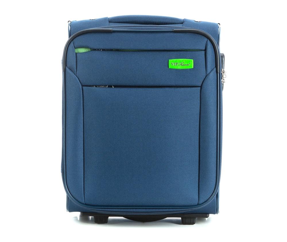 Чемодан на колесиках 15\\Маленький чемодан из коллекции RIM Line выполнен из полиэстера. Оснащен двумя колесиками, подножкой, которая поддерживает стабильность чемодана, телескопической ручкой для комфортного перемещения  и кодовым замком. Чемодан соответствует требованиям ручной клади. Внутри: основное отделение на молнии с регулируемыми ремнями для безопасности вещей; карман на молнии. Дополнительно: с лицевой стороны карман на молнии.<br><br>секс: унисекс<br>Цвет: синий<br>материал:: Полиэстер<br>подкладка:: полиэстер<br>высота (см):: 41<br>ширина (см):: 32<br>глубина (см):: 19<br>размер:: ручная кладь<br>объем (л):: 20<br>вес (кг):: 2