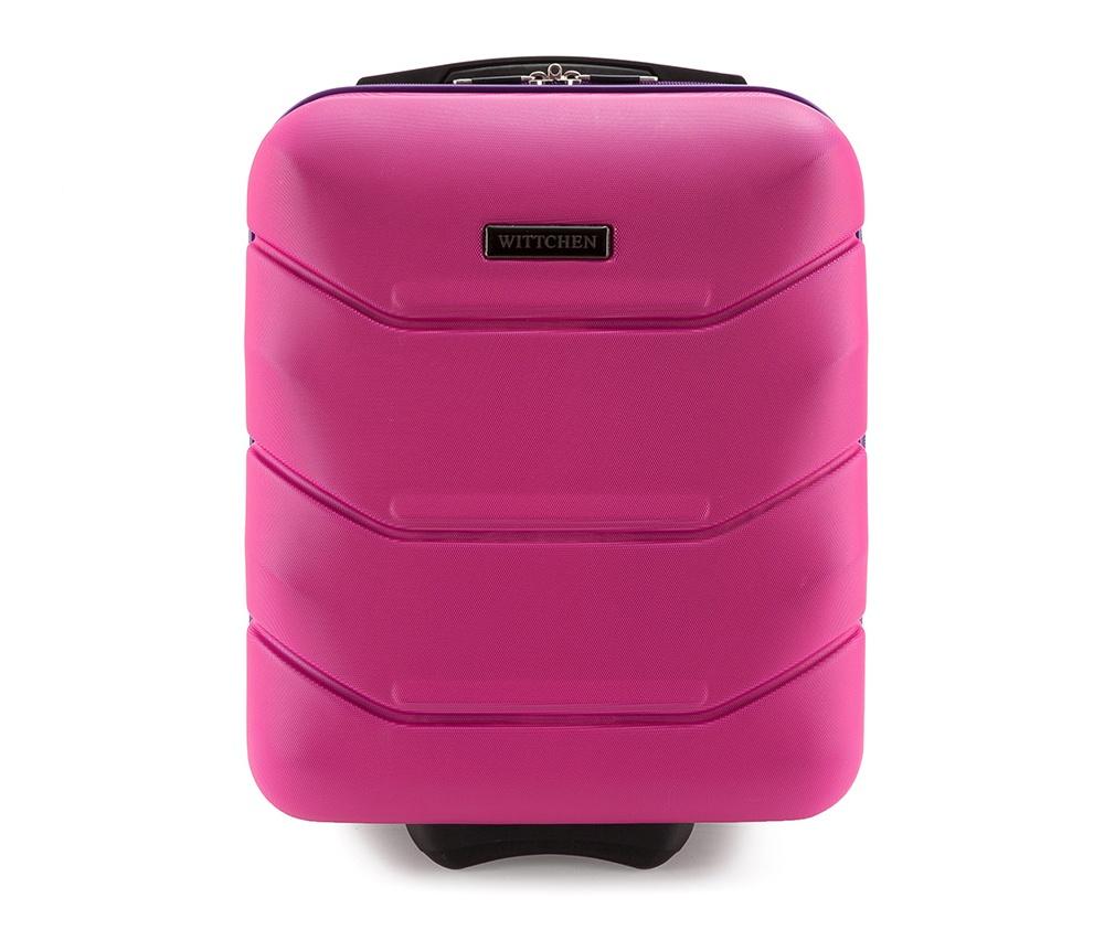 Чемодан на колёсиках 19\ Wittchen 56-3A-281-60, розовыйМаленький чемодан из коллекции J-Line, сделан из высокопрочного АБС - пластика. Чемодан имеет 4 двойных колесика, выдвижную ручку с фиксатором, дополнтельную ручку для удобной переноски багажа, кодовый замок. Характерная особенность - логотип Wittchen на верхней ручке багажа.   Внутри: основное отделение с эластичными ремешками и застежкой-молнией; отсек на молнии<br><br>секс: унисекс<br>Цвет: розовый<br>материал:: Поликарбонат<br>высота (см):: 42<br>ширина (см):: 32<br>глубина (см):: 25<br>размер:: маленький<br>объем (л):: 25<br>вес (кг):: 2