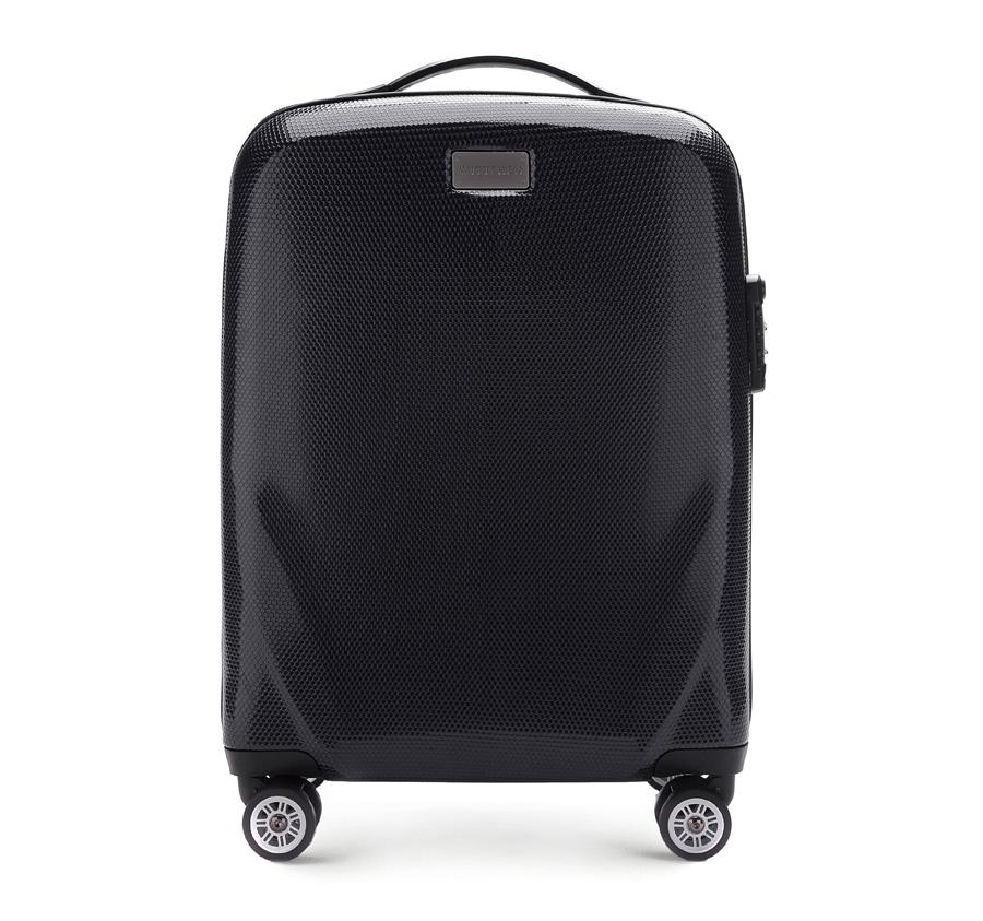 Praktický malý cestovný kufor.
