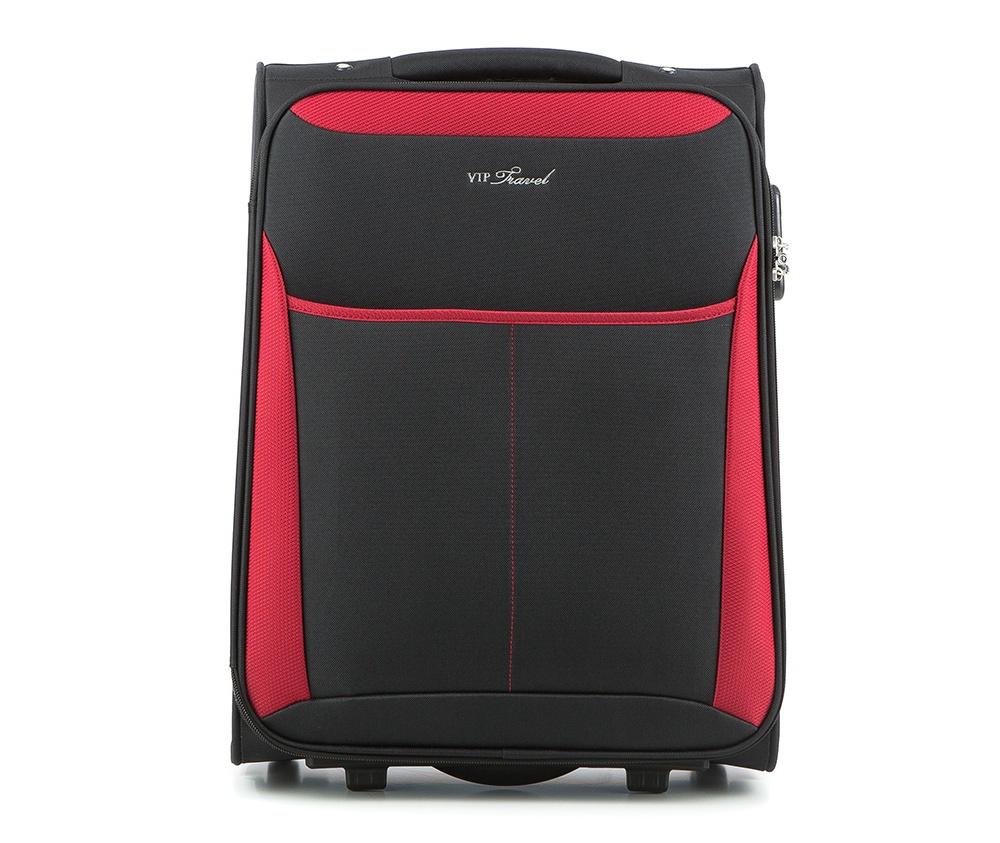 Чемодан текстильный 19\\Маленький чемодан из коллекции VIP Travel \ABC Line\, сделан   из  высокопрочного полиэстера. Два прочных колеса, позволяют легко   перемещать  чемодан. Имеет  двухступенчатую телескопическую ручку с   фиксатором и дополнительную  ручку сверху .&#13;<br>Внутри:&#13;<br>&#13;<br>    один большой отдел для одежды, который фиксируется эластичными резинками на застежках &#13;<br>    отделение на молнии.&#13;<br>&#13;<br>Снаружи:&#13;<br>&#13;<br>    карман на молнии&#13;<br>    на тыльной стороне бирка для вписания данных владельца багажа.<br><br>секс: унисекс<br>Цвет: черный<br>материал:: Полиэстер<br>высота (см):: 50<br>ширина (см):: 38<br>глубина (см):: 19<br>вес (кг):: 2.1<br>объем (л):: 26