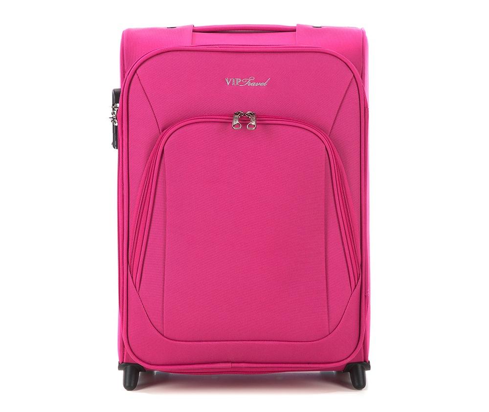 Чемодан текстильныйМаленький легкий чемодан из коллекции Sim Line, сделана из высокопрочного полиэстера. Два прочных колеса позволяют легко перемещать чемодан. Имеет телескопическую ручку с фиксатором и две дополнительные  боковые ручки, кодовый замок для надежной защиты вещей.&#13;<br>Особенности модели: &#13;<br>&#13;<br>&#13;<br>    основное отделение с эластичными ремешками  на молнии&#13;<br>    отделение на молнии.&#13;<br>&#13;<br>Снаружи:&#13;<br>&#13;<br>    отделение на молнии&#13;<br>    на тыльной стороне бирка с местом для информации о владельце.<br><br>секс: женщина<br>Цвет: розовый<br>материал:: Полиэстер<br>подкладка:: полиэстер<br>высота (см):: 50<br>ширина (см):: 36<br>глубина (см):: 20<br>вес (кг):: 2.6<br>объем (л):: 31