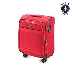 Walizka kabinowa miękka prosta, czerwony, 56-3S-581-30, Zdjęcie 1
