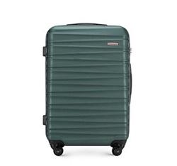 Średnia walizka z ABS-u z żebrowaniem, morski, 56-3A-312-85, Zdjęcie 1
