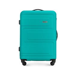 Średnia walizka z ABS-u tłoczona, turkusowy, 56-3A-632-85, Zdjęcie 1