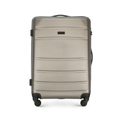 Średnia walizka z ABS-u żłobiona, szampański, 56-3A-652-86, Zdjęcie 1