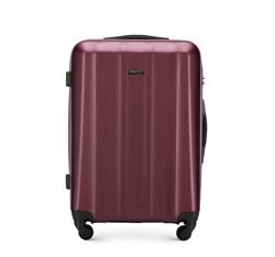 Średnia walizka z polikarbonu fakturowana, bordowy, 56-3P-112-35, Zdjęcie 1