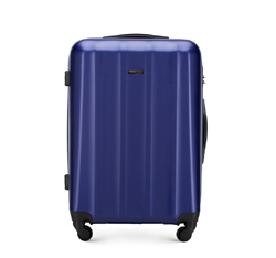 MEDIUM SUITCASE, navy blue, 56-3P-112-90, Photo 1
