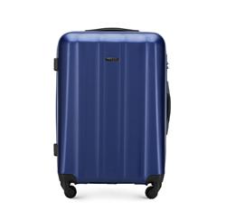 Średnia walizka z polikarbonu fakturowana, niebieski, 56-3P-112-95, Zdjęcie 1