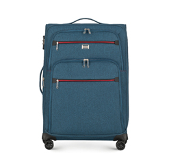 Suitcase, teal blue, 56-3S-502-91, Photo 1