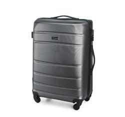 Średnia walizka z ABS-u żłobiona, szary, 56-3A-652-01, Zdjęcie 1