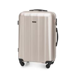 Średnia walizka z polikarbonu fakturowana, szampański, 56-3P-112-86, Zdjęcie 1