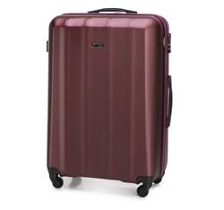 Duża walizka z polikarbonu fakturowana, bordowy, 56-3P-113-35, Zdjęcie 1