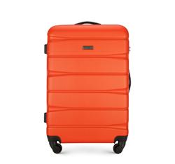Średnia walizka z ABS-u w poziome pasy, pomarańczowy, 56-3A-362-56, Zdjęcie 1