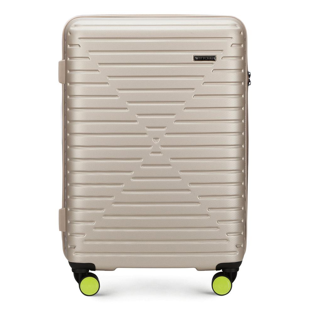 Купить Средний чемодан, WITTCHEN, Германия, бежевый