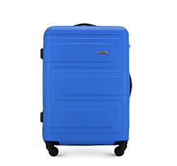 Średnia walizka z ABS-u tłoczona, niebieski, 56-3A-632-95, Zdjęcie 1