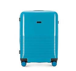 Średnia walizka z ABS-u gęsto tłoczona, niebieski, 56-3H-572-90, Zdjęcie 1
