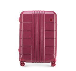 Średnia walizka z polikarbonu żłobiona, zgaszony czerwony, 56-3P-822-35, Zdjęcie 1