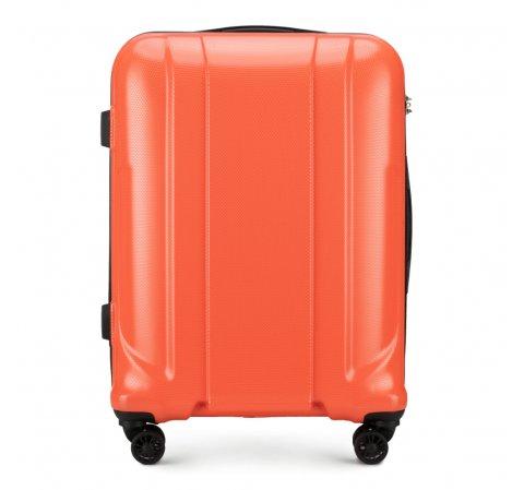 Walizka średnia, pomarańczowy, 56-3P-862-56, Zdjęcie 1