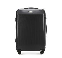 Średnia walizka z polikarbonu prosta, czarny, 56-3P-972-11, Zdjęcie 1