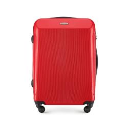 Średnia walizka z polikarbonu prosta, czerwony, 56-3P-972-31, Zdjęcie 1