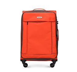 Walizka średnia, pomarańczowo - czarny, 56-3S-462-55, Zdjęcie 1