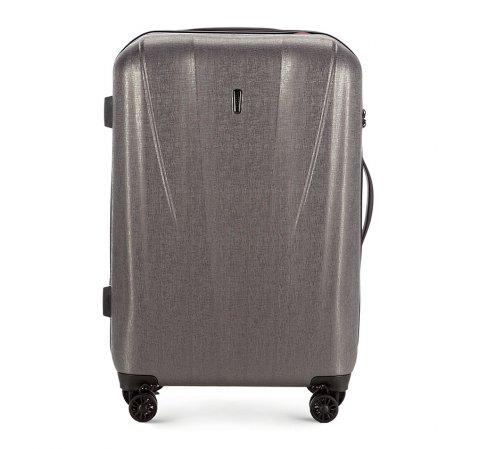 Średnia walizka z polikarbonu z fakturą, grafitowy, 56-3P-962-90, Zdjęcie 1