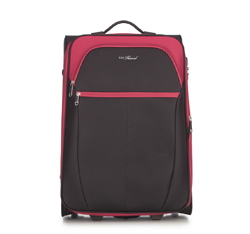 Medium suitcase, black-red, V25-3S-232-15, Photo 1