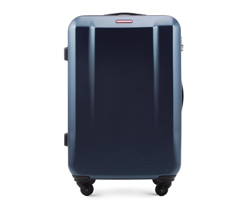 Чемодан на колесиках 23\\Средний чемодан из коллекции DIP-Line выполнен из  сочетания материалов PC  и ABS. Оснащен четырьмя колесами, телескопической ручкой и резиновой ручкой , что влияет на комфорт передвижения багажа. Внутри:   основное отделениена молнии с регулируемыми  ремнями, предохраняющими одежду от перемещения; карман - сетка на молнии; 2 кармана на молнии.  Указанные размеры включают в себя также выступающие элементы, такие как ручки или колеса.<br><br>секс: унисекс<br>Цвет: синий<br>материал:: ABS пластик<br>подкладка:: полиэстр<br>высота (см):: 69<br>ширина (см):: 47<br>глубина (см):: 25<br>размер:: средний<br>объем (л):: 63<br>вес (кг):: 3.2