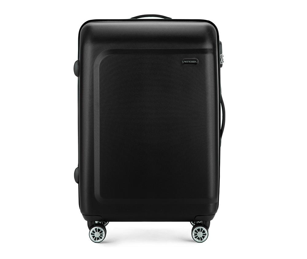 Чемодан на колёсиках 23\Средний чемодан из коллекции TP-Power, сделан из высокопрочного полимера. Чемодан имеет 4 двойных колесика, выдвижную ручку с фиксатором, дополнтельную ручку для удобной переноски багажа, кодовый замок. Характерная особенность - логотип Wittchen на верхней ручке багажа. Внутри: основное отделение с эластичными ремешками и застежкой-молнией; отсек на молнии.<br><br>секс: None<br>Цвет: черный<br>материал:: Полимер<br>подкладка:: полиэстер<br>высота (см):: 67<br>ширина (см):: 45<br>глубина (см):: 26<br>размер:: средний<br>вес (кг):: 3,4<br>объем (л):: 62